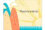 Surfeur rétro Carte Postale - gabarit prédéfini. <br/>Utilisez notre logiciel Avery Design & Print Online pour personnaliser facilement la conception.