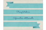 Ruban turquoise Carte Postale - gabarit prédéfini. <br/>Utilisez notre logiciel Avery Design & Print Online pour personnaliser facilement la conception.