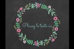 Craie florale Carte Postale - gabarit prédéfini. <br/>Utilisez notre logiciel Avery Design & Print Online pour personnaliser facilement la conception.