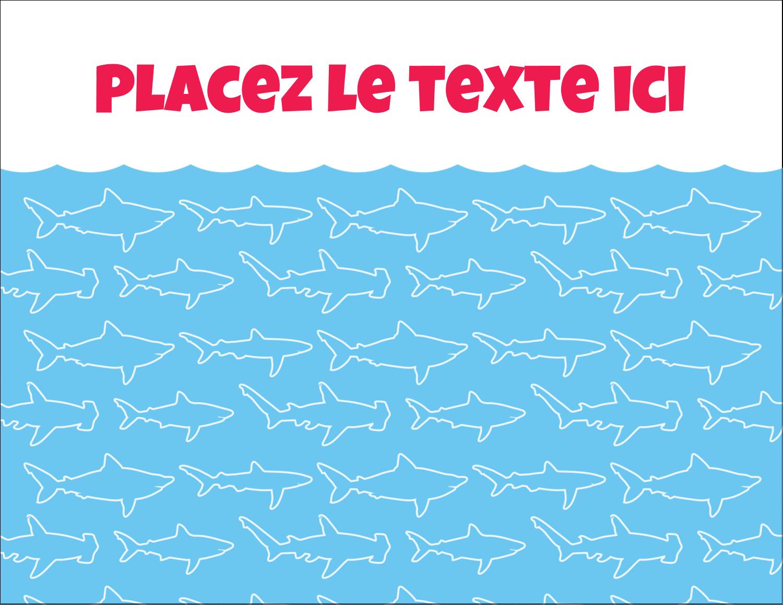 """4¼"""" X 5½"""" Carte Postale - Requins bleus"""