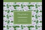 Savon fleurs vertes Carte Postale - gabarit prédéfini. <br/>Utilisez notre logiciel Avery Design & Print Online pour personnaliser facilement la conception.