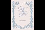Réservez la date bleu Carte Postale - gabarit prédéfini. <br/>Utilisez notre logiciel Avery Design & Print Online pour personnaliser facilement la conception.