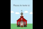 École rouge Carte Postale - gabarit prédéfini. <br/>Utilisez notre logiciel Avery Design & Print Online pour personnaliser facilement la conception.