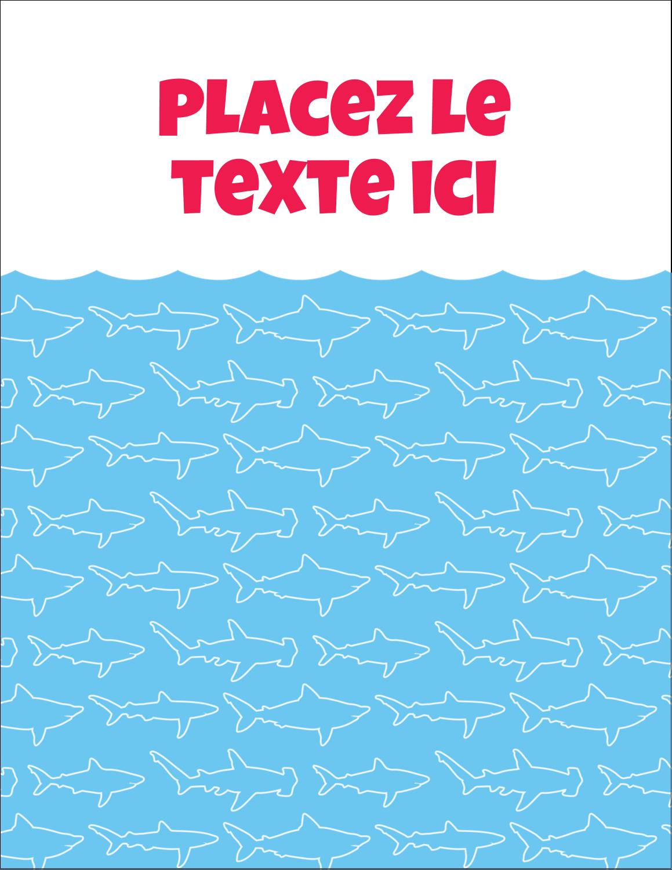 """5½"""" x 4¼"""" Carte Postale - Requins bleus"""
