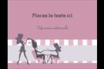 Salon Silhouette Carte Postale - gabarit prédéfini. <br/>Utilisez notre logiciel Avery Design & Print Online pour personnaliser facilement la conception.