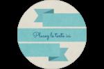 Ruban turquoise Étiquettes rondes - gabarit prédéfini. <br/>Utilisez notre logiciel Avery Design & Print Online pour personnaliser facilement la conception.