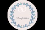 Réservez la date bleu Étiquettes rondes - gabarit prédéfini. <br/>Utilisez notre logiciel Avery Design & Print Online pour personnaliser facilement la conception.