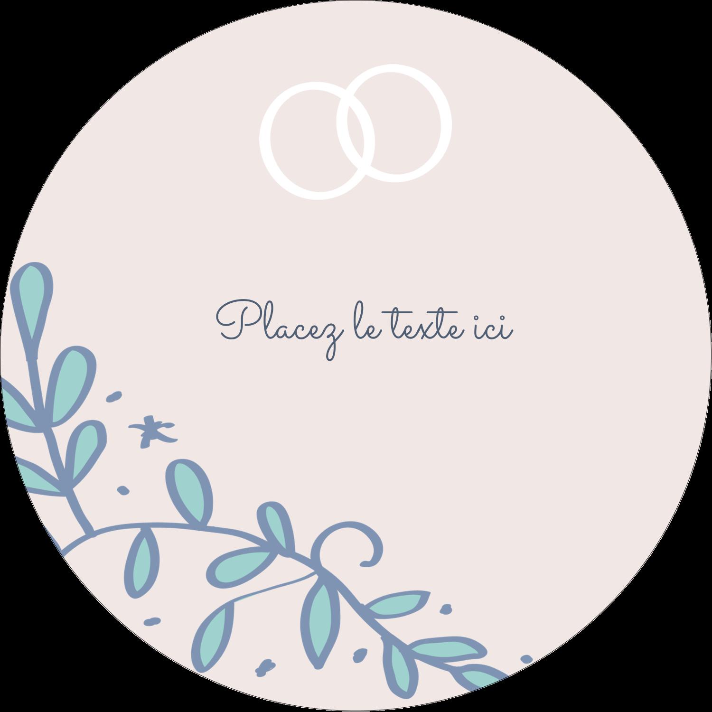"""3"""" Diameter Étiquettes rondes - Réservez la date bleu"""