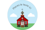 École rouge Étiquettes rondes - gabarit prédéfini. <br/>Utilisez notre logiciel Avery Design & Print Online pour personnaliser facilement la conception.