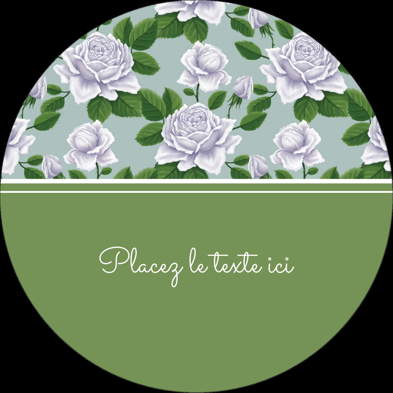 """3"""" Diameter Étiquettes rondes - Savon fleurs vertes"""