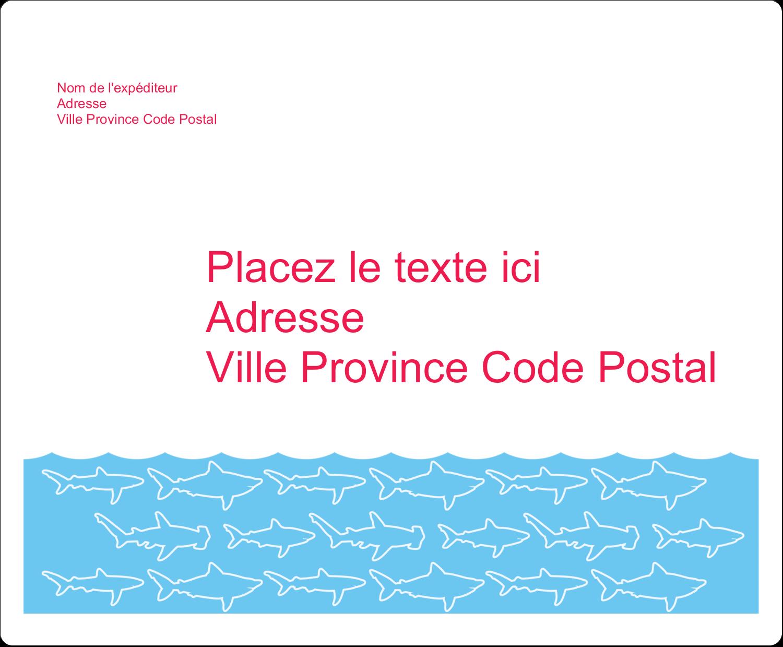 """3⅓"""" x 4"""" Étiquettes d'expédition - Requins bleus"""