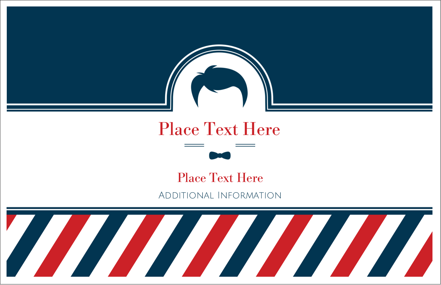 "5½"" x 8½"" Greeting Card - Barber Shop"
