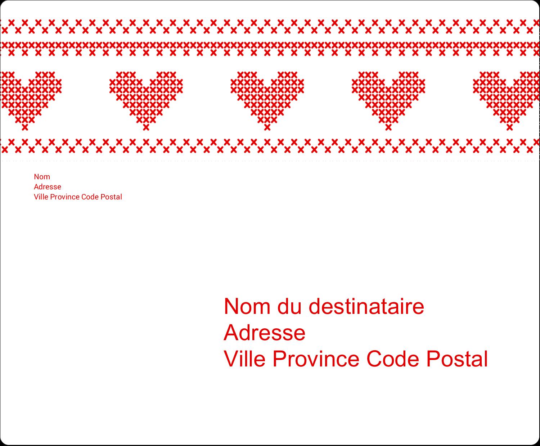 """3⅓"""" x 4"""" Étiquettes d'expédition - Saint-Valentin en point de croix"""