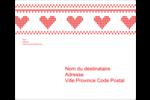 Saint-Valentin en point de croix Étiquettes d'expédition - gabarit prédéfini. <br/>Utilisez notre logiciel Avery Design & Print Online pour personnaliser facilement la conception.