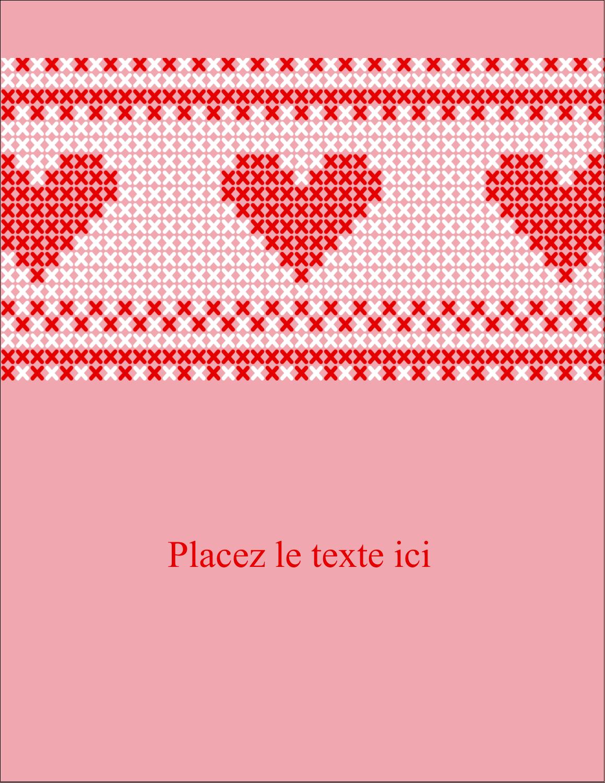 """5½"""" x 4¼"""" Carte Postale - Saint-Valentin en point de croix"""