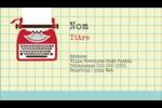 Machine à écrire Carte d'affaire - gabarit prédéfini. <br/>Utilisez notre logiciel Avery Design & Print Online pour personnaliser facilement la conception.