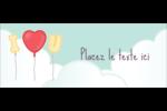 Ballon d'amour de Saint-Valentin Affichette - gabarit prédéfini. <br/>Utilisez notre logiciel Avery Design & Print Online pour personnaliser facilement la conception.