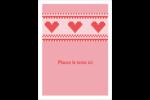 Saint-Valentin en point de croix Étiquettes rondes - gabarit prédéfini. <br/>Utilisez notre logiciel Avery Design & Print Online pour personnaliser facilement la conception.