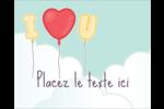 Ballon d'amour de Saint-Valentin Étiquettes rondes gaufrées - gabarit prédéfini. <br/>Utilisez notre logiciel Avery Design & Print Online pour personnaliser facilement la conception.