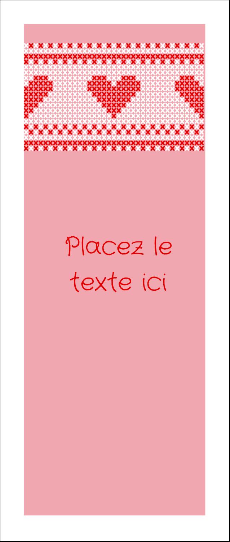 """2"""" x 3½"""" Cartes Pour Le Bureau - Saint-Valentin en point de croix"""