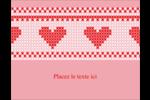 Saint-Valentin en point de croix Carte Postale - gabarit prédéfini. <br/>Utilisez notre logiciel Avery Design & Print Online pour personnaliser facilement la conception.
