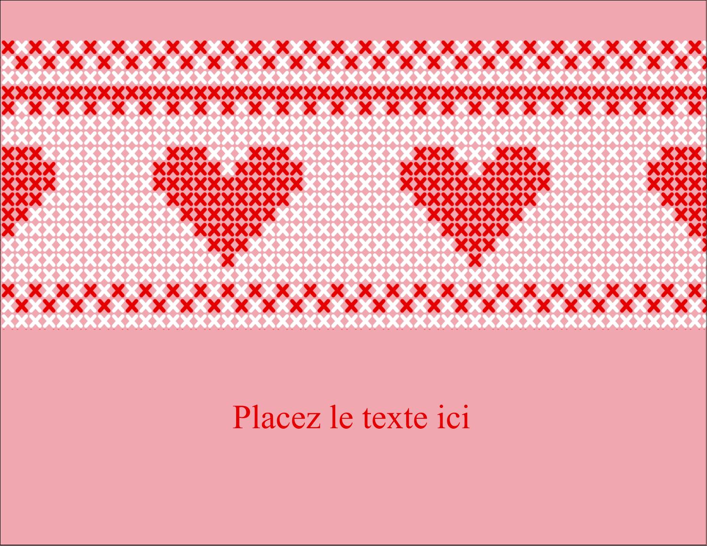 """4¼"""" X 5½"""" Carte Postale - Saint-Valentin en point de croix"""