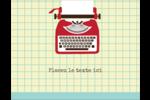 Machine à écrire Carte Postale - gabarit prédéfini. <br/>Utilisez notre logiciel Avery Design & Print Online pour personnaliser facilement la conception.