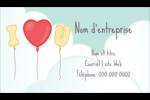 Ballon d'amour de Saint-Valentin Carte d'affaire - gabarit prédéfini. <br/>Utilisez notre logiciel Avery Design & Print Online pour personnaliser facilement la conception.