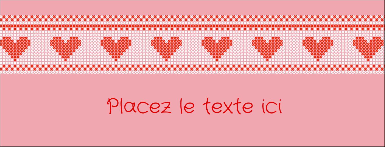 """1-7/16"""" x 3¾"""" Affichette - Saint-Valentin en point de croix"""