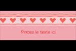 Saint-Valentin en point de croix Affichette - gabarit prédéfini. <br/>Utilisez notre logiciel Avery Design & Print Online pour personnaliser facilement la conception.