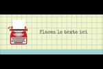 Machine à écrire Affichette - gabarit prédéfini. <br/>Utilisez notre logiciel Avery Design & Print Online pour personnaliser facilement la conception.