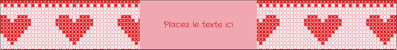"""1½"""" x 2½"""" Étiquettes ovales - Saint-Valentin en point de croix"""