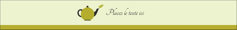"""1½"""" x 2½"""" Étiquettes ovales - Théière"""