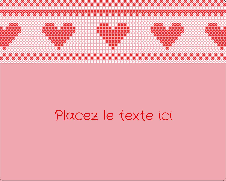 """2"""" Diameter Étiquettes rondes gaufrées - Saint-Valentin en point de croix"""
