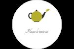 Théière Étiquettes arrondies - gabarit prédéfini. <br/>Utilisez notre logiciel Avery Design & Print Online pour personnaliser facilement la conception.
