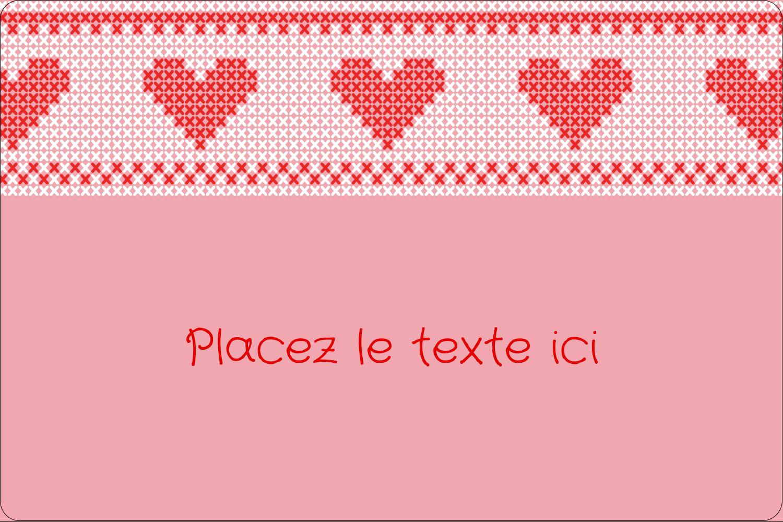"""3"""" x 3¾"""" Étiquettes rectangulaires - Saint-Valentin en point de croix"""