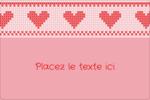 Saint-Valentin en point de croix Étiquettes rectangulaires - gabarit prédéfini. <br/>Utilisez notre logiciel Avery Design & Print Online pour personnaliser facilement la conception.