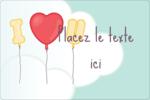 Ballon d'amour de Saint-Valentin Étiquettes rectangulaires - gabarit prédéfini. <br/>Utilisez notre logiciel Avery Design & Print Online pour personnaliser facilement la conception.