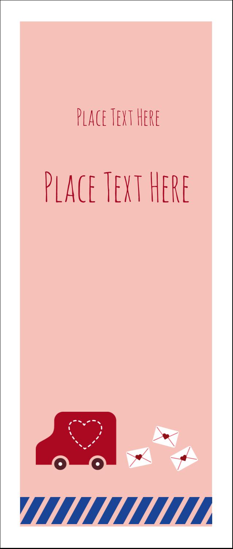 """1¾"""" x 5½"""" Printable Tickets - Valentine Mail"""