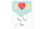 Infuse sweet sentiment into projects with pre-designed Valentine Balloon Love templates.
