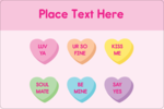 Add sweet style to custom projects with pre-designed Valentine Heart Candy templates.