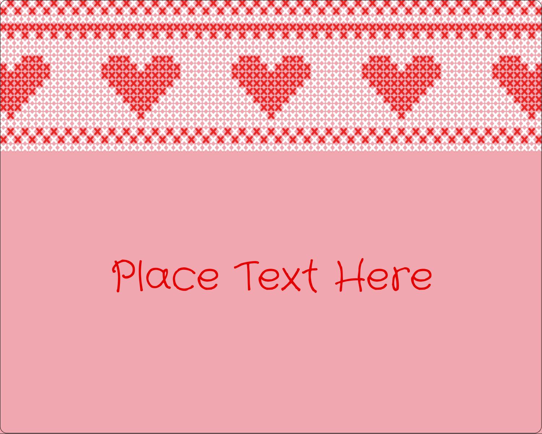 "3"" x 3¾"" Rectangular Label - Valentine Cross Stitch"