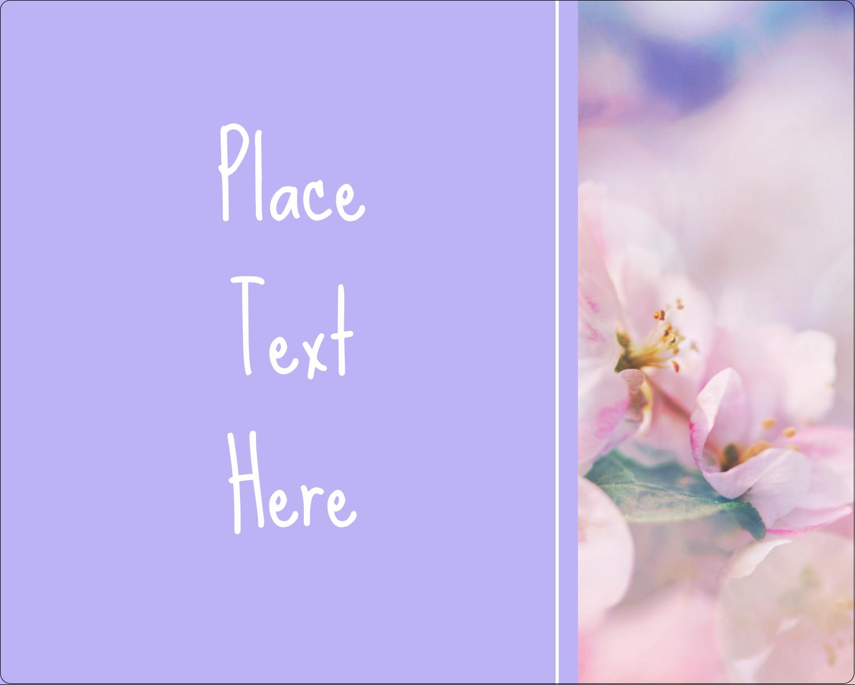 """3"""" x 3¾"""" Rectangular Label - Floral Dream"""