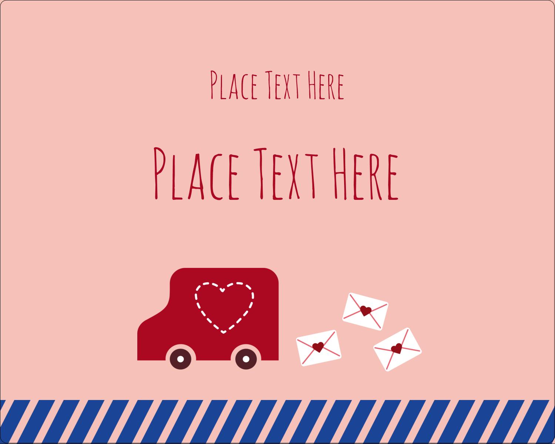 """3"""" x 3¾"""" Rectangular Label - Valentine Mail"""