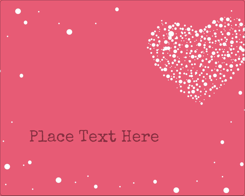 """3"""" x 3¾"""" Rectangular Label - Heart Spot"""
