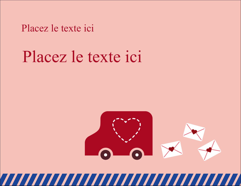 """4¼"""" X 5½"""" Carte Postale - Saint-Valentin par la poste"""