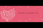 Amas en cœur Affichette - gabarit prédéfini. <br/>Utilisez notre logiciel Avery Design & Print Online pour personnaliser facilement la conception.