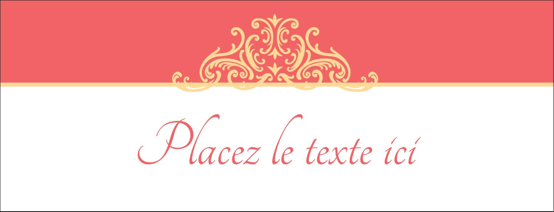 """1-7/16"""" x 3¾"""" Affichette - Élégance et mariage"""