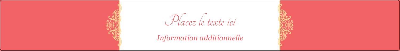 """1½"""" x 2½"""" Étiquettes ovales - Élégance et mariage"""