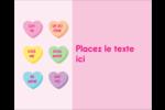 Bonbon en cœur de Saint-Valentin Étiquettes rondes gaufrées - gabarit prédéfini. <br/>Utilisez notre logiciel Avery Design & Print Online pour personnaliser facilement la conception.